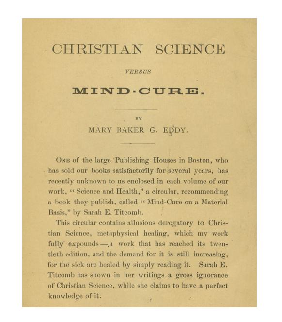 CS vs. Mind-Cure